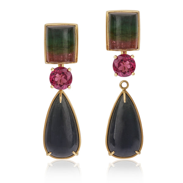 Tourmaline Earrings with detached tourmaline pendant by McFarlane Fine Jewellery