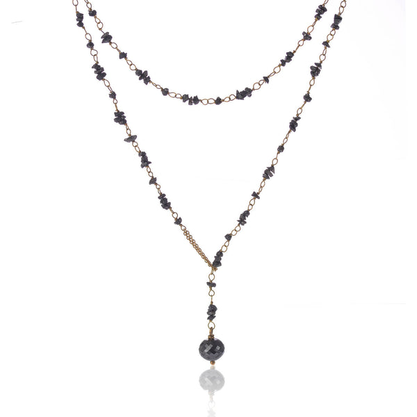 Raw Black Diamond Necklace by McFarlane Fine Jewellery