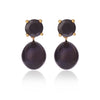 Black Spinel Earrings with Detachable Black Pearl Pendants by McFarlane Fine Jewellery