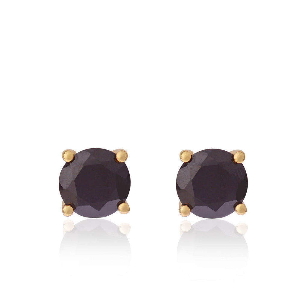 Black Spinel Earrings by McFarlane Fine Jewellery