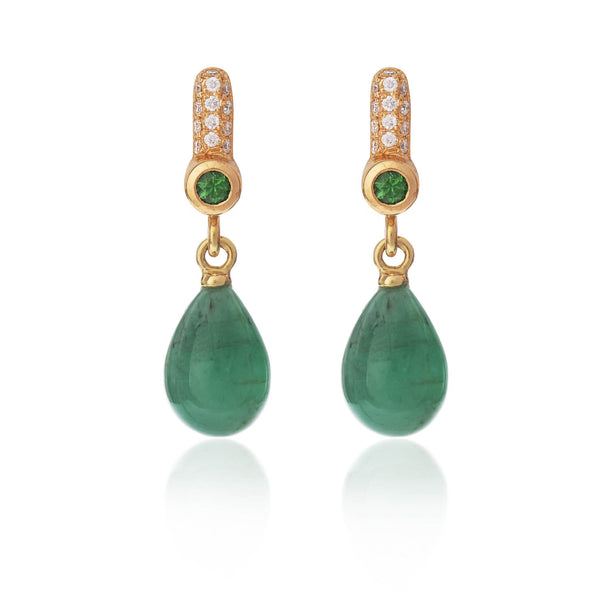 Drop Emerald Earrings by McFarlane Fine Jewellery