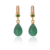 Drop Emerald Earrings by Love Is
