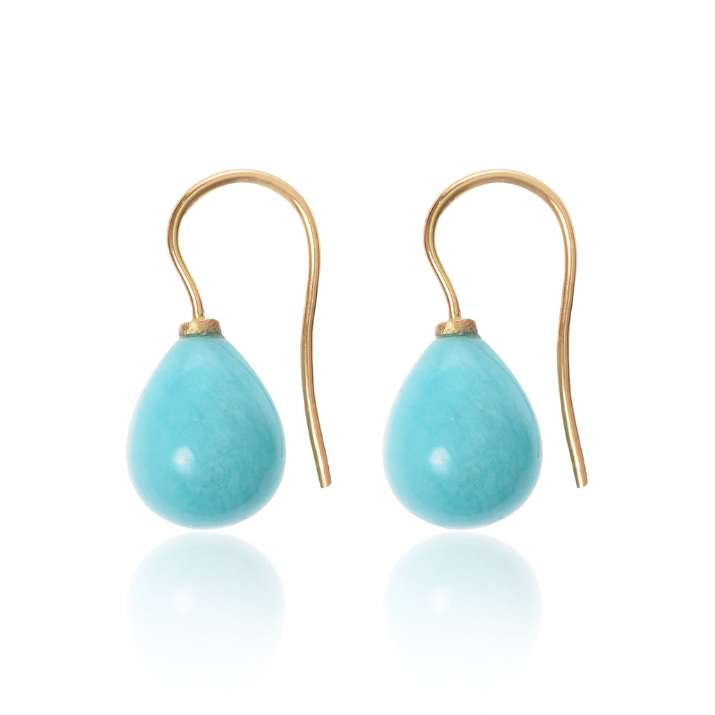 Amazonite Drop Earrings by McFarlane Fine Jewellery