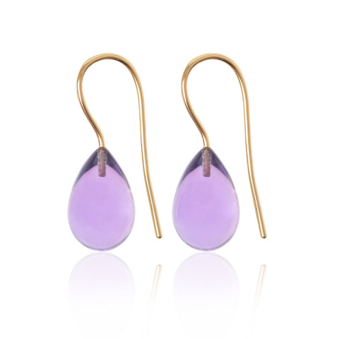 Amethyst Earrings Large