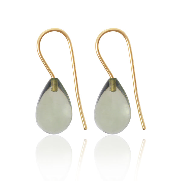 Prasiolite Earrings Large by McFarlane Fine Jewellery