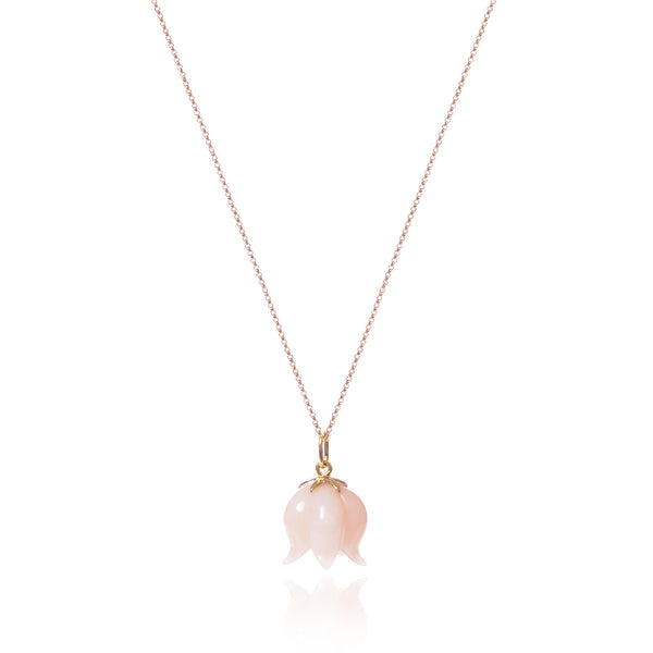 Pink Opal Bellflower Necklace by McFarlane Fine Jewellery