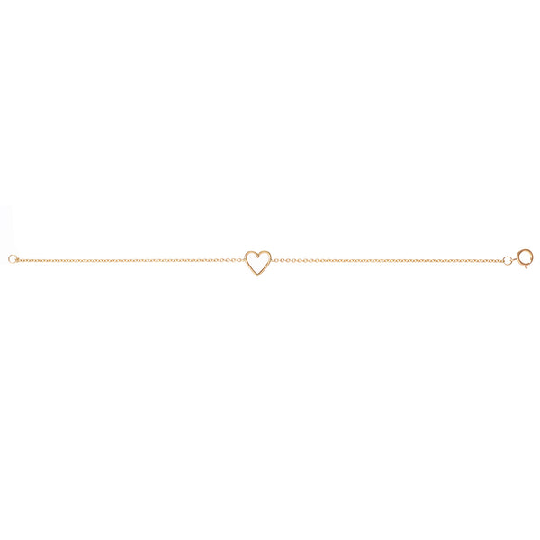 18ct yellow gold Heart Bracelet full length picture by McFarlane Fine Jewellery
