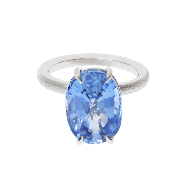 18ct white gold Lollipop Sapphire Ring by McFarlane Fine Jewellery