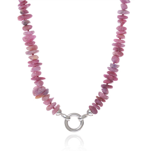 Tumbled Ruby Necklace