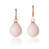 Rose Gold and Pink Peruvian Opal Pendant Earrings with one pendant detached by McFarlane Fine Jewellery