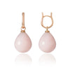 Rose Gold and Pink Peruvian Opal Pendant Earrings by McFarlane Fine Jewellery