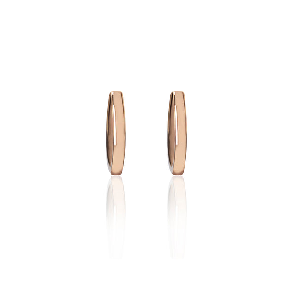 Rose Gold Loop Earrings by McFarlane Fine Jewellery