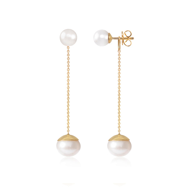 Say Yes Pearl Earrings side view by McFarlane Fine Jewellery