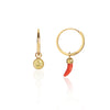 Angel and Little Chilli Gold Closed Hoops side view by McFarlane Fine Jewellery