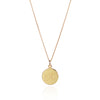 18ct Yellow Gold Customisable Disc Necklace with sample K engraving by McFarlane Fine Jewellery