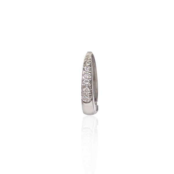 18ct White Gold Diamond Huggy by McFarlane Fine Jewellery