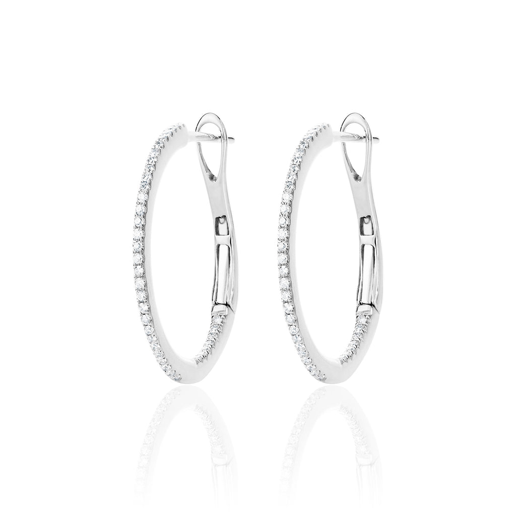 Diamond Encrusted White Gold Hoops by McFarlane Fine Jewellery
