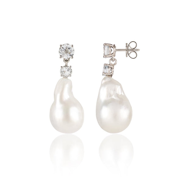 South Sea Pearl Earrings side view by McFarlane Fine Jewellery