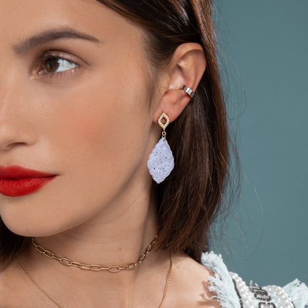 Lilian wearing the White Gold Ear Cuff by McFarlane Fine Jewellery