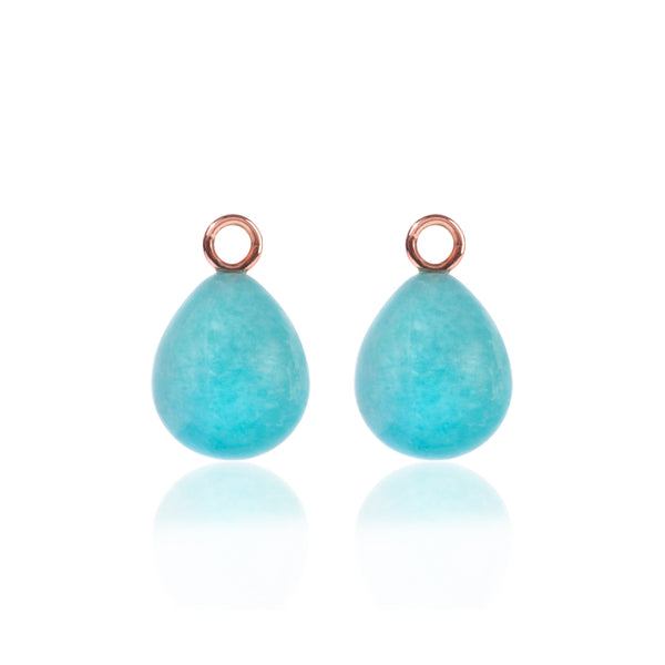 Amazonite Earring Pendants by McFarlane Fine Jewellery
