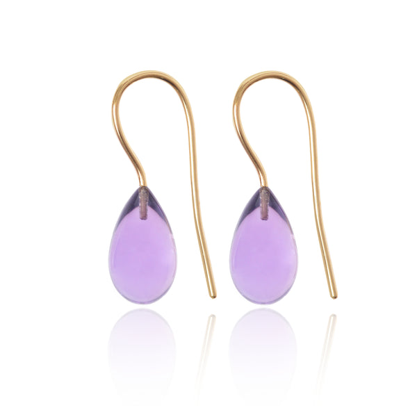 Amethyst Earrings Medium