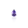 Faceted Amethyst Stud by Love Is in 18ct white gold