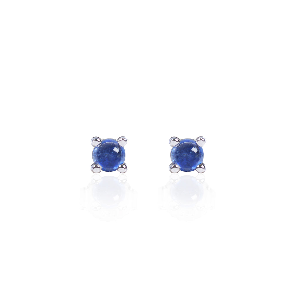 Blue Sapphire Studs in 18ct white gold by McFarlane Fine Jewellery