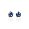 Blue Sapphire Studs in 18ct yellow gold by Love Is