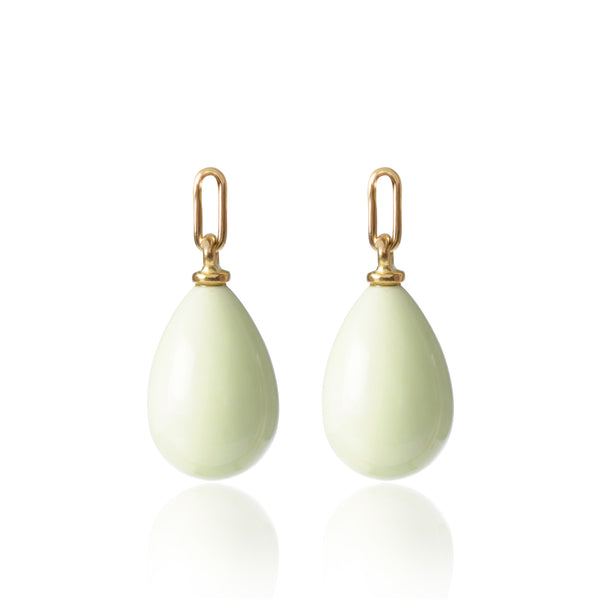 Lemon Chrysoprase Earring Pendants Medium
