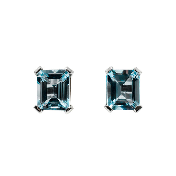 Light Blue Aquamarine Earrings