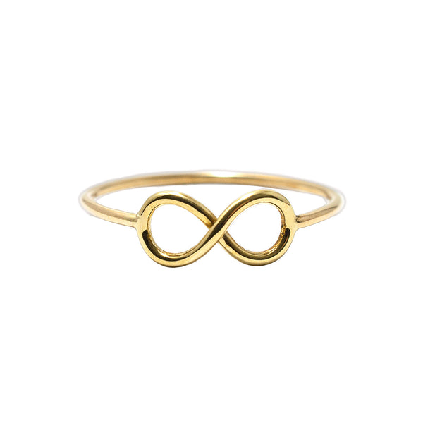 18ct yellow gold To Infinity Ring by McFarlane Fine Jewellery