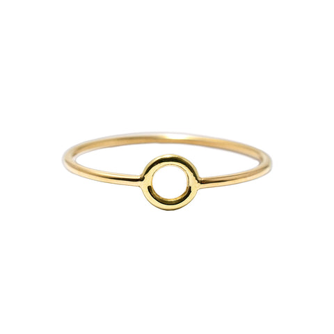 Pretty Little Circle Ring by McFarlane Fine Jewellery