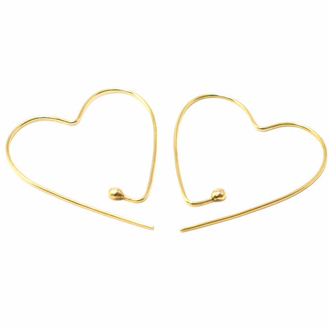 18ct yellow gold Heart Hoops by McFarlane Fine Jewellery