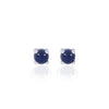 Dark Blue Sapphire Studs in 18ct white gold by Love Is