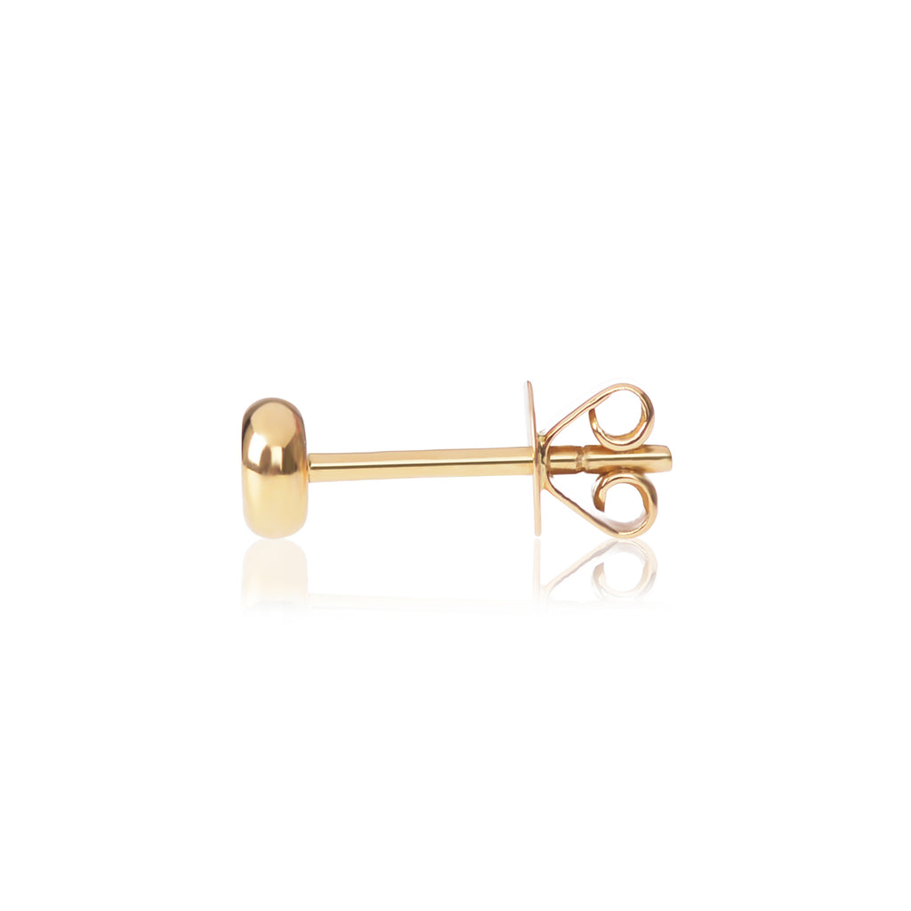 Ruby Stud side view by McFarlane Fine Jewellery