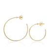18ct yellow gold Esmeralda Hoop Size Comparison by McFarlane Fine Jewellery
