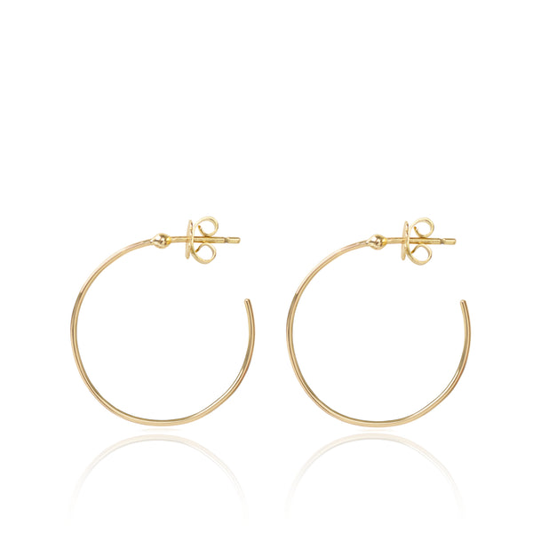 Esmeralda 18ct yellow gold Hoops by McFarlane Fine Jewellery