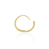 Diamond Studded Gold Closed Hoop