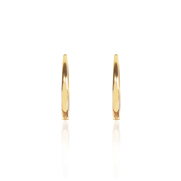 18ct yellow Gold Closed Hoops by McFarlane Fine Jewellery