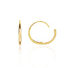 18ct yellow Gold Closed Hoops Side View by McFarlane Fine Jewellery