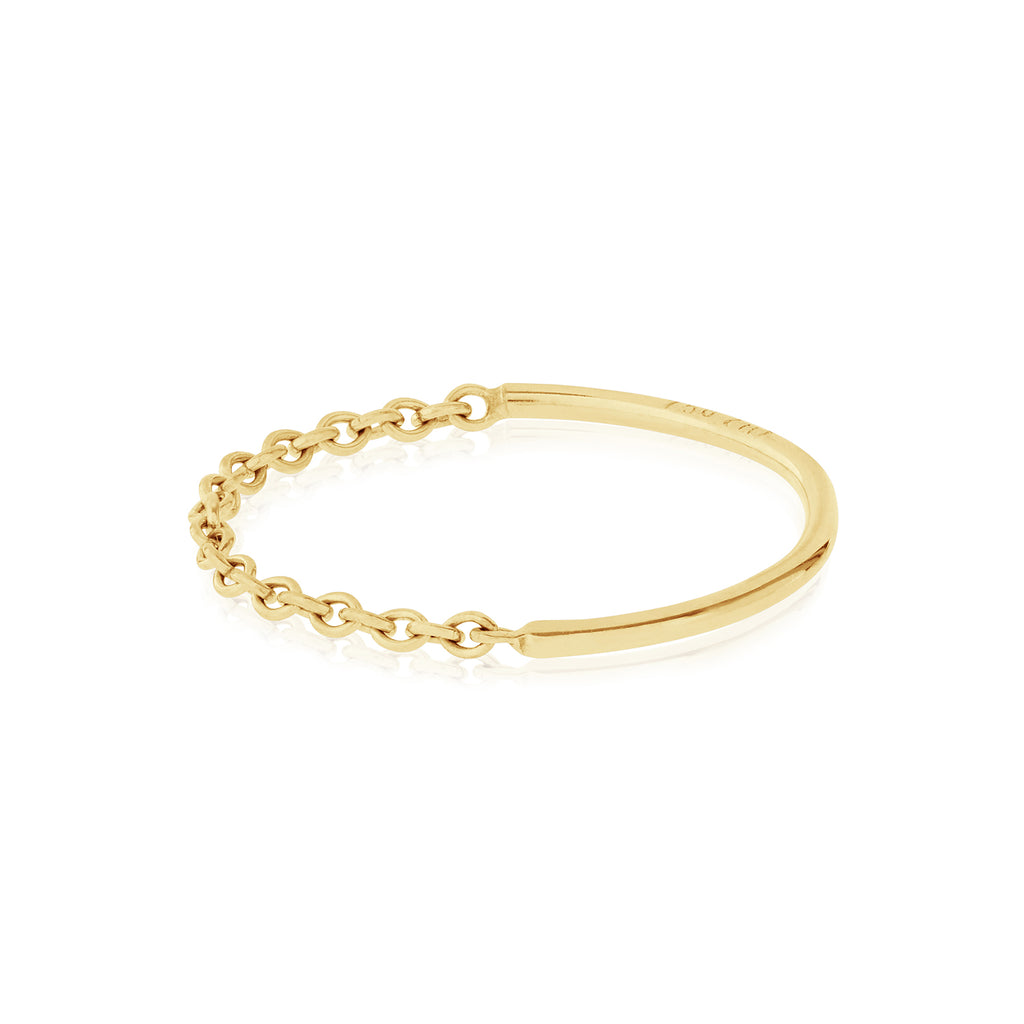 18ct yellow gold Half Moon Ring by McFarlane Fine Jewellery