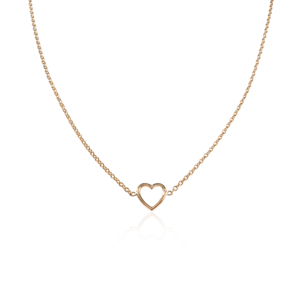 18ct yellow gold Heart Necklace by McFarlane Fine Jewellery