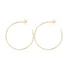 18ct yellow gold Esmeralda Pearl Hoops by Love Is Plain Hoops