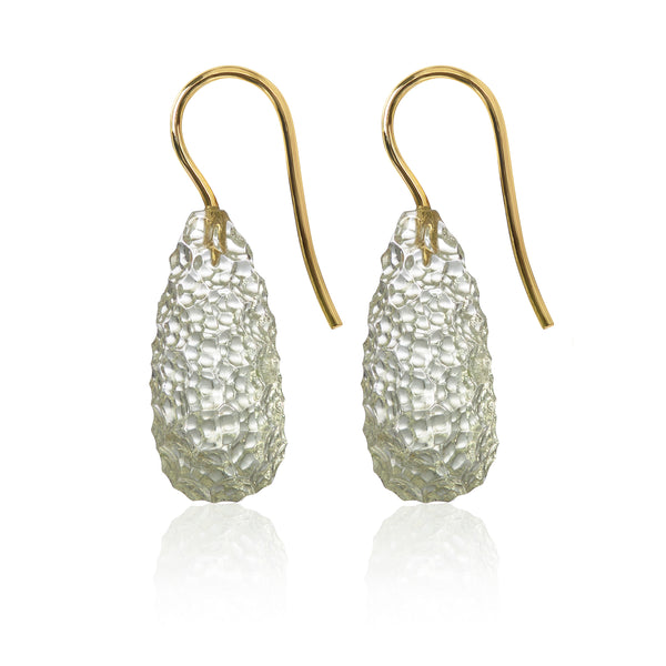 Laser Cut Prasiolite Earrings by McFarlane Fine Jewellery