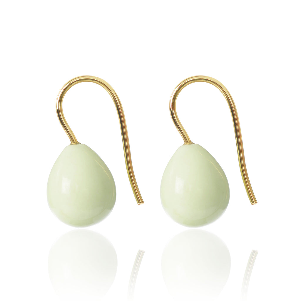 Lemon Chrysoprase Earrings Medium by McFarlane Fine Jewellery
