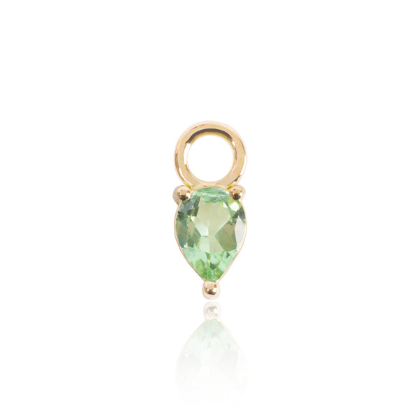 Light Green Tourmaline Earring Pendant by McFarlane Fine Jewellery