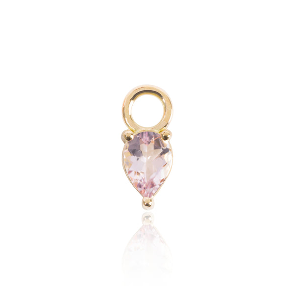 Light Pink Morganite Earring Pendant by McFarlane Fine Jewellery