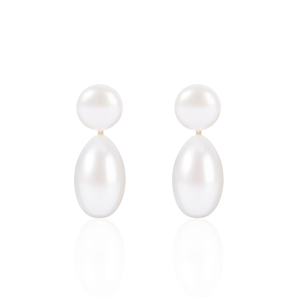 Button Pearls with Elongated Pearl Pendants by McFarlane Fine Jewellery