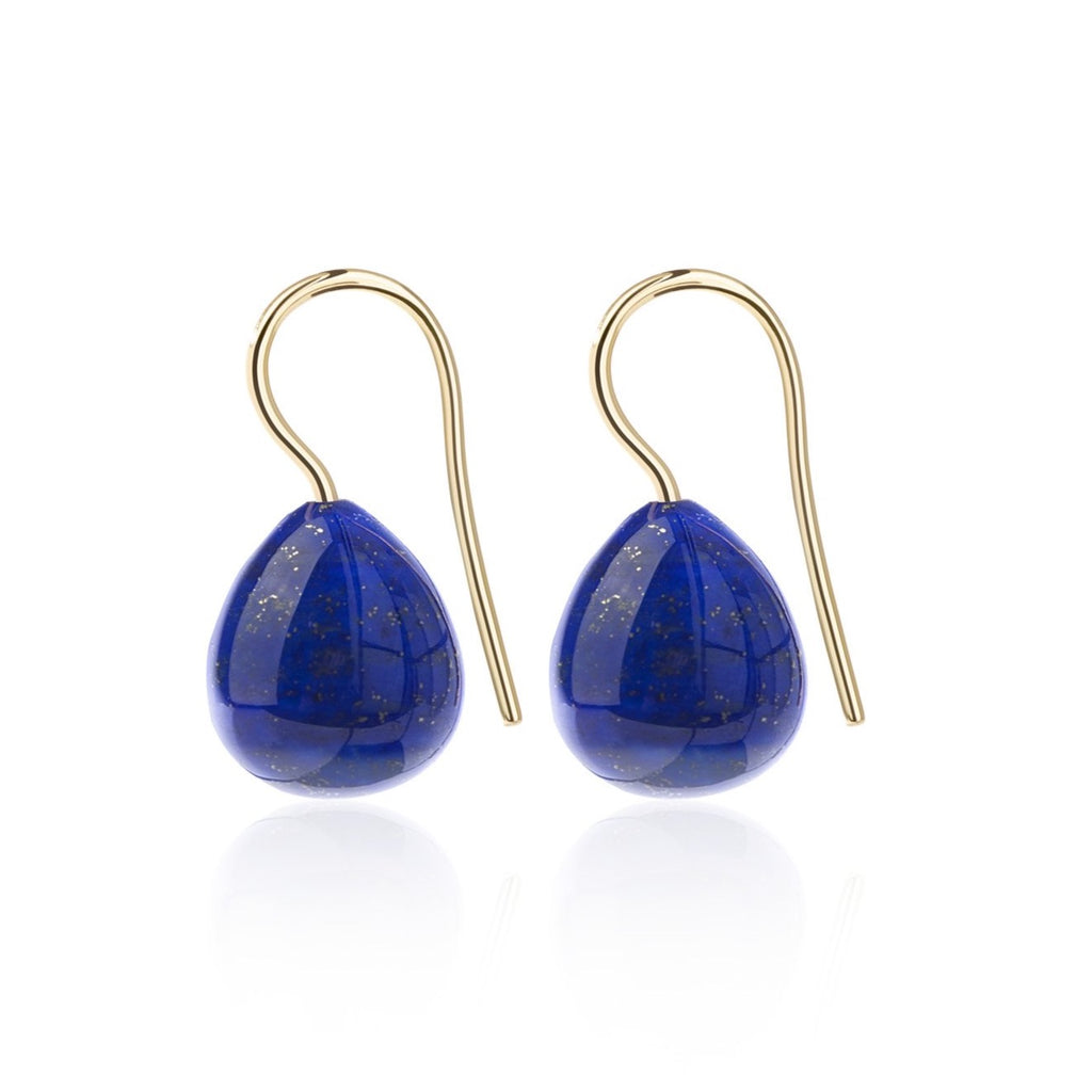 Blue Lapis Lazuli Earrings Extra Large