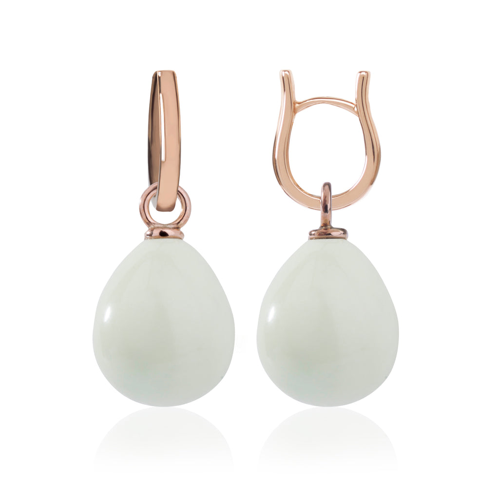 Rose Gold & Lemon Chrysoprase Earrings